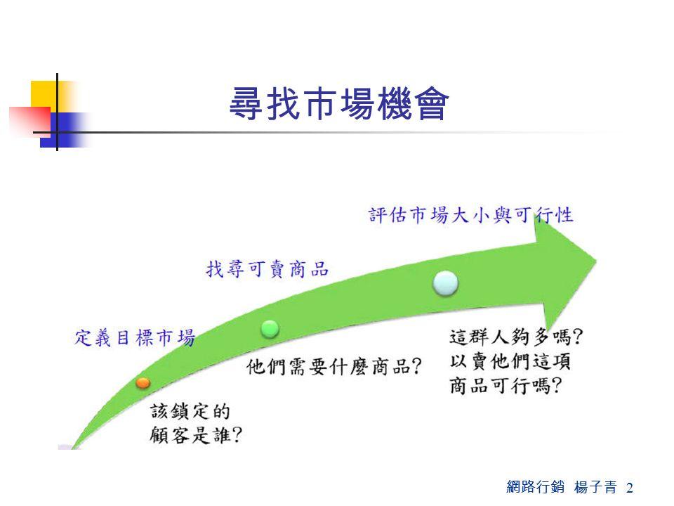 網路行銷 楊子青 2 尋找市場機會