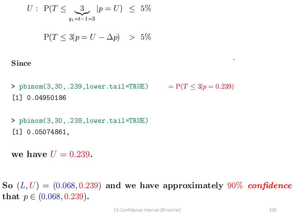 10013-Confidence Interval (Binomial)