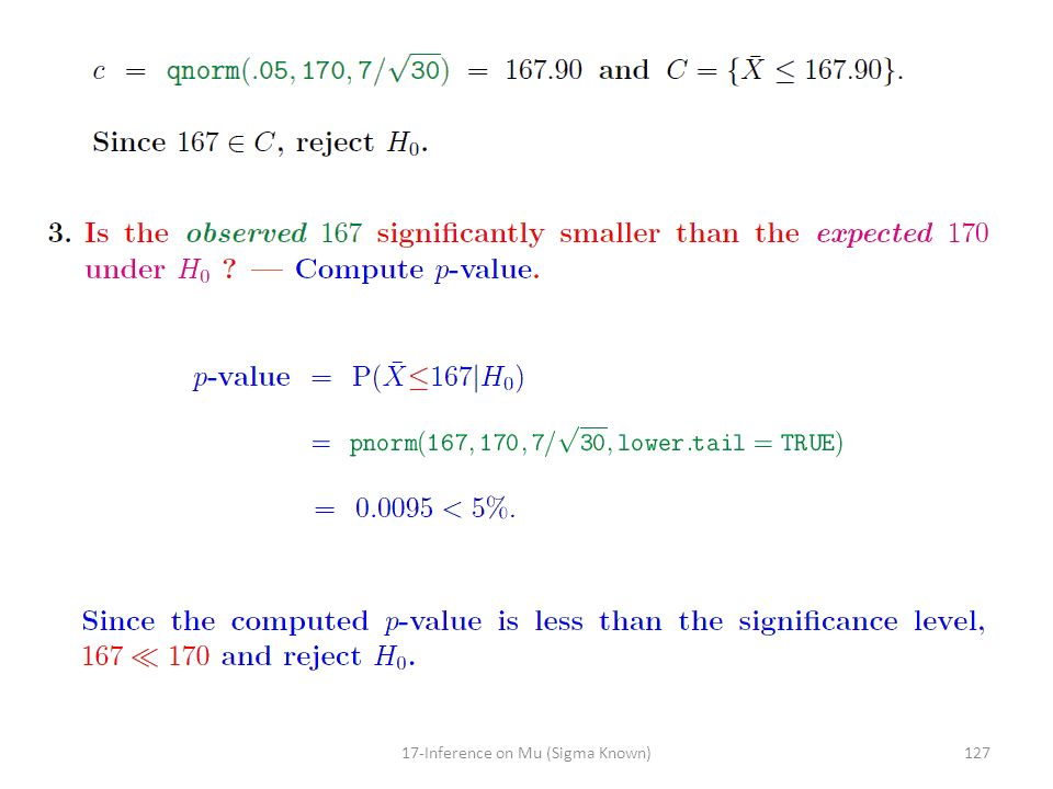 12717-Inference on Mu (Sigma Known)