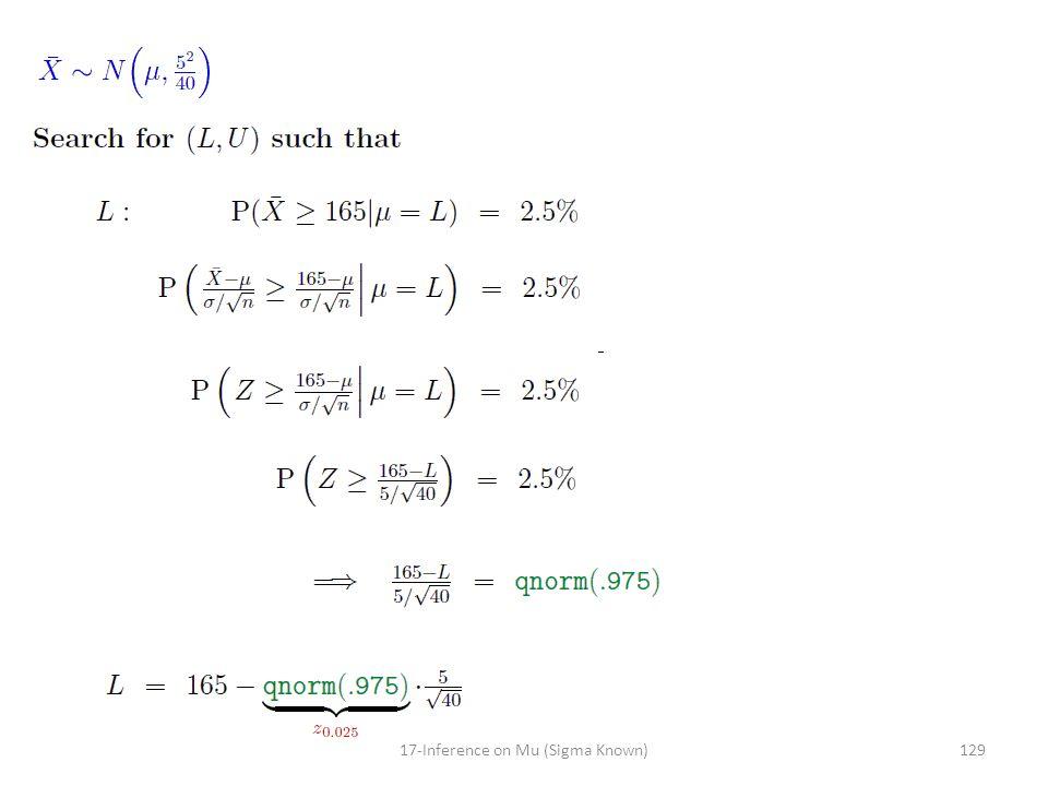 12917-Inference on Mu (Sigma Known)