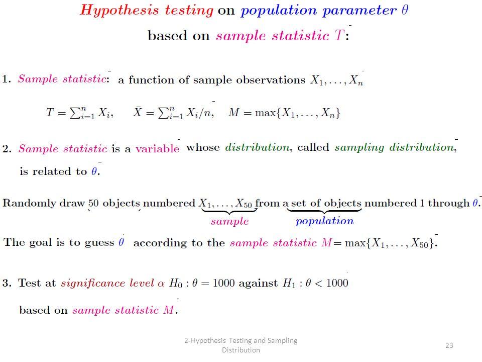 23 2-Hypothesis Testing and Sampling Distribution