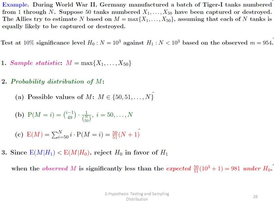 2-Hypothesis Testing and Sampling Distribution 26