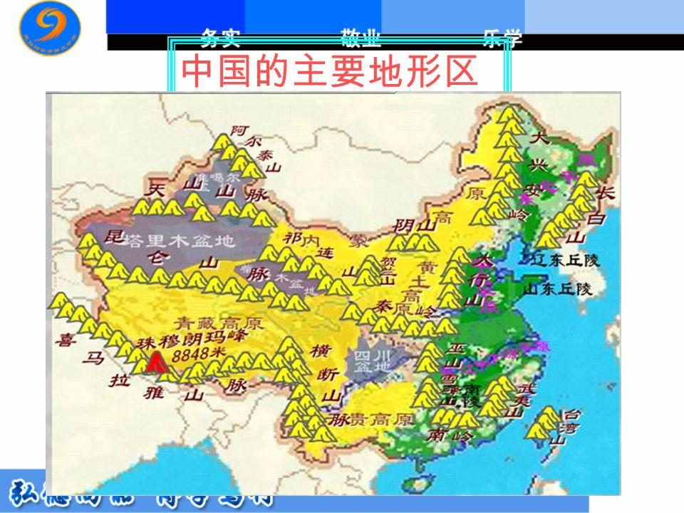 中国的主要地形区
