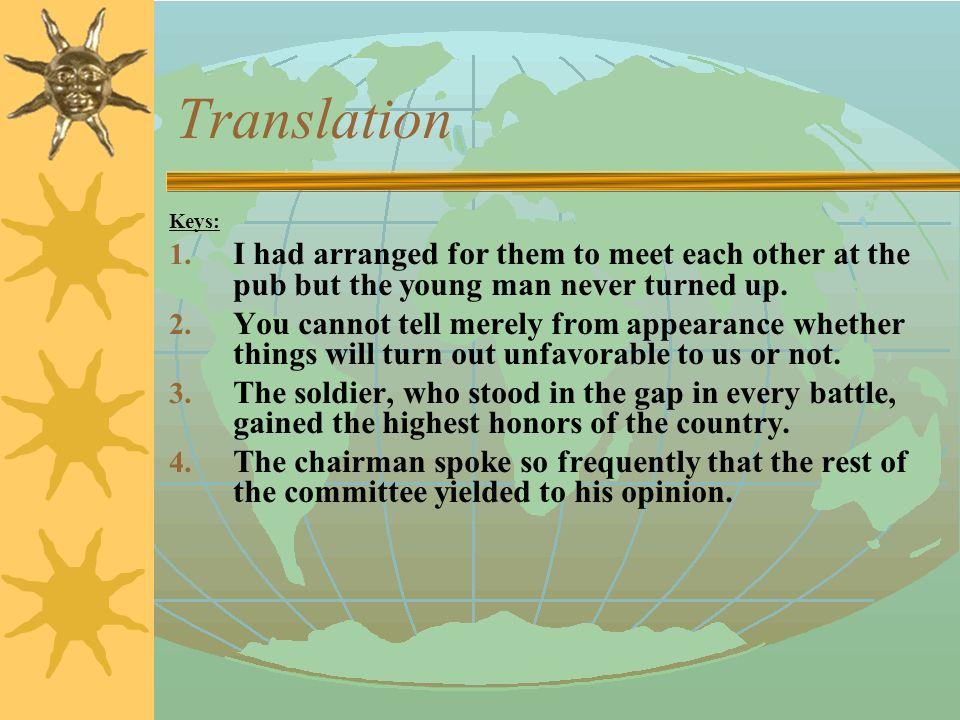 Translation 5. 他们现在生活富裕了,但也曾经历坎坷。 (ups and downs) 6.