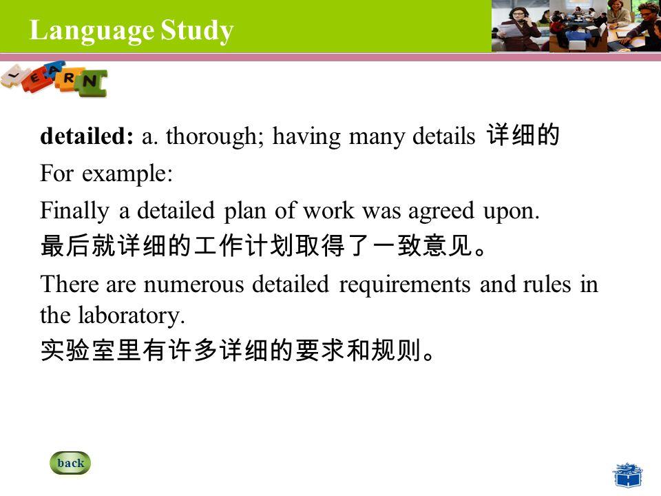 Language Study detailed: a.