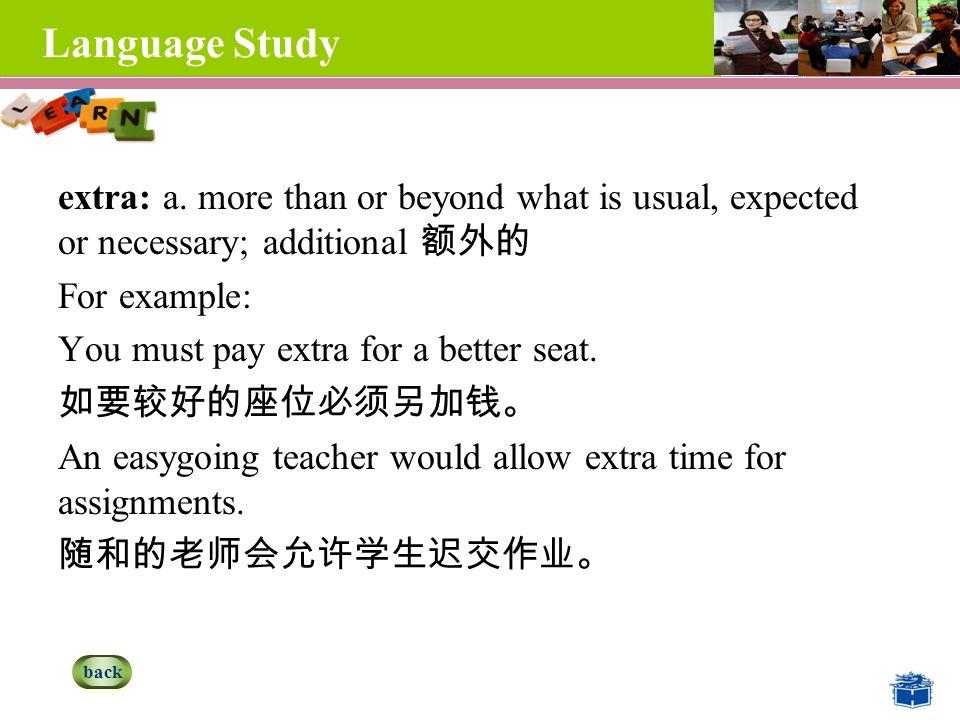 Language Study extra: a.