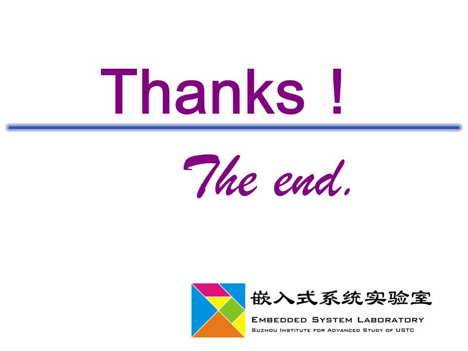 Thanks ! The end.