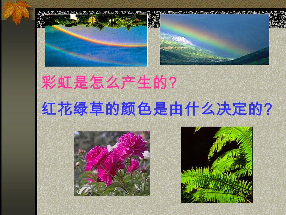 彩虹是怎么产生的 红花绿草的颜色是由什么决定的