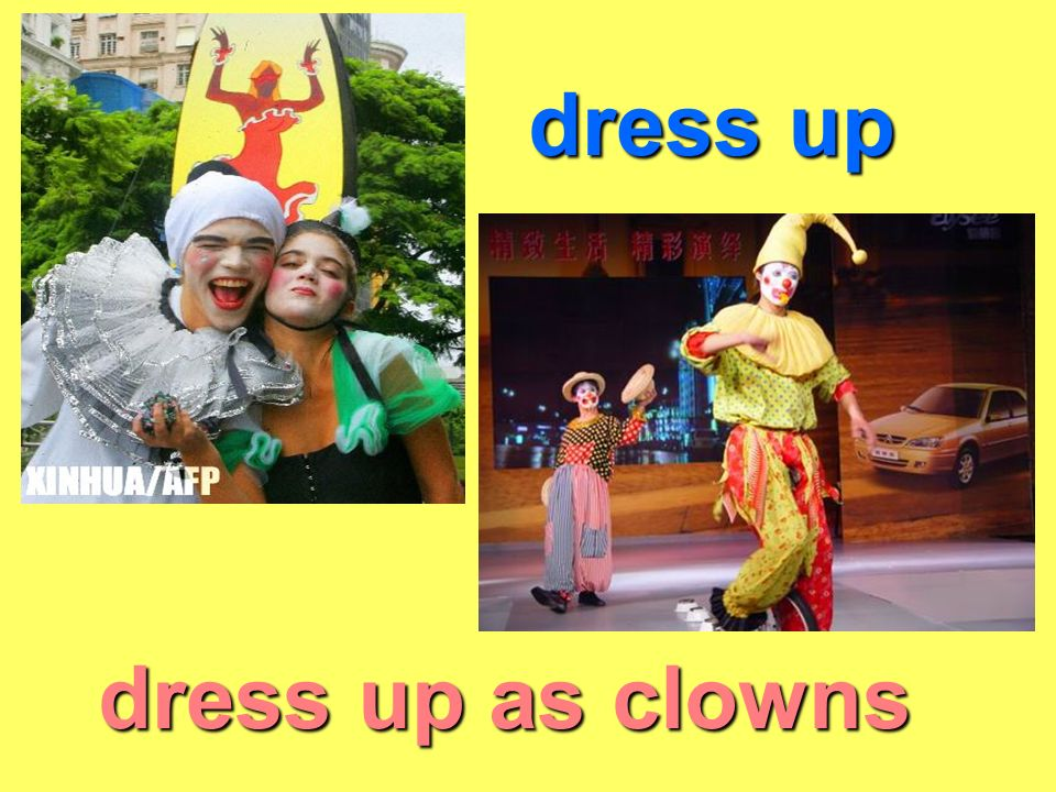 dress up dress up as clowns