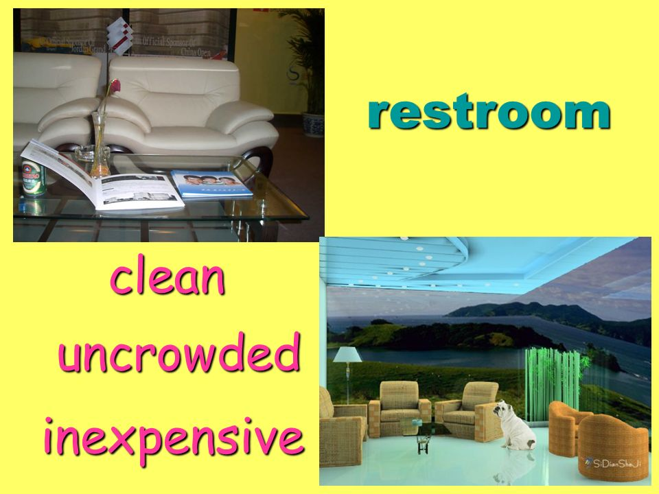 restroom clean uncrowded inexpensive