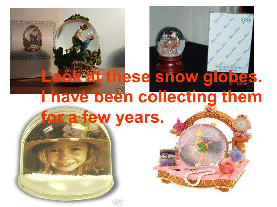 snow globe 内有雪花的球型玻璃器 (装饰品)