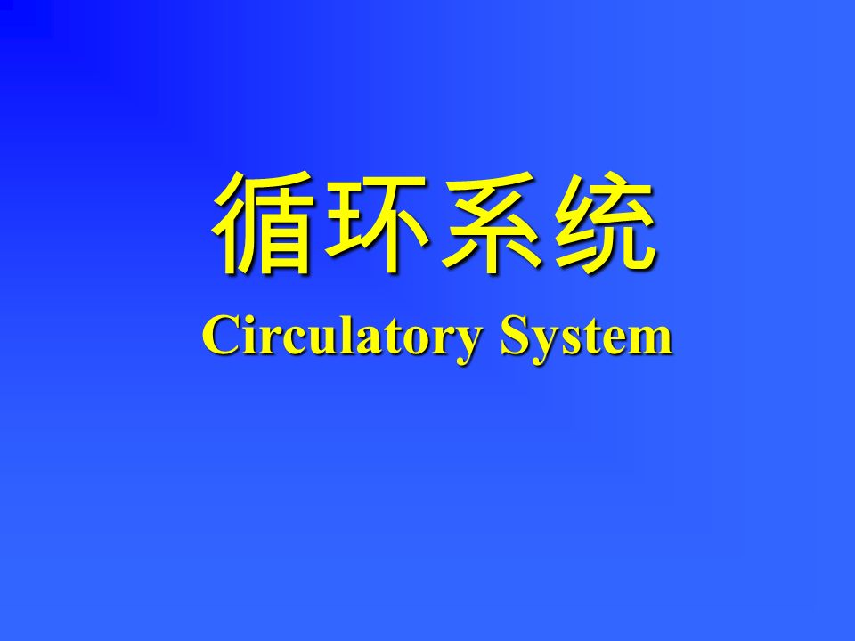 循环系统 Circulatory System