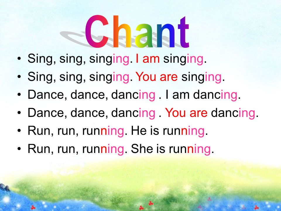 Sing, sing, singing. I am singing. Sing, sing, singing.