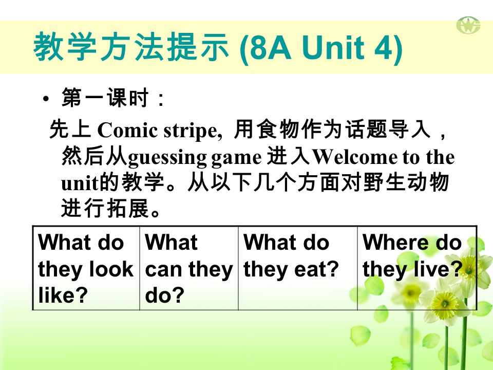 教学内容提示 Welcome to the unit 1.look delicious 2. Can I have some.