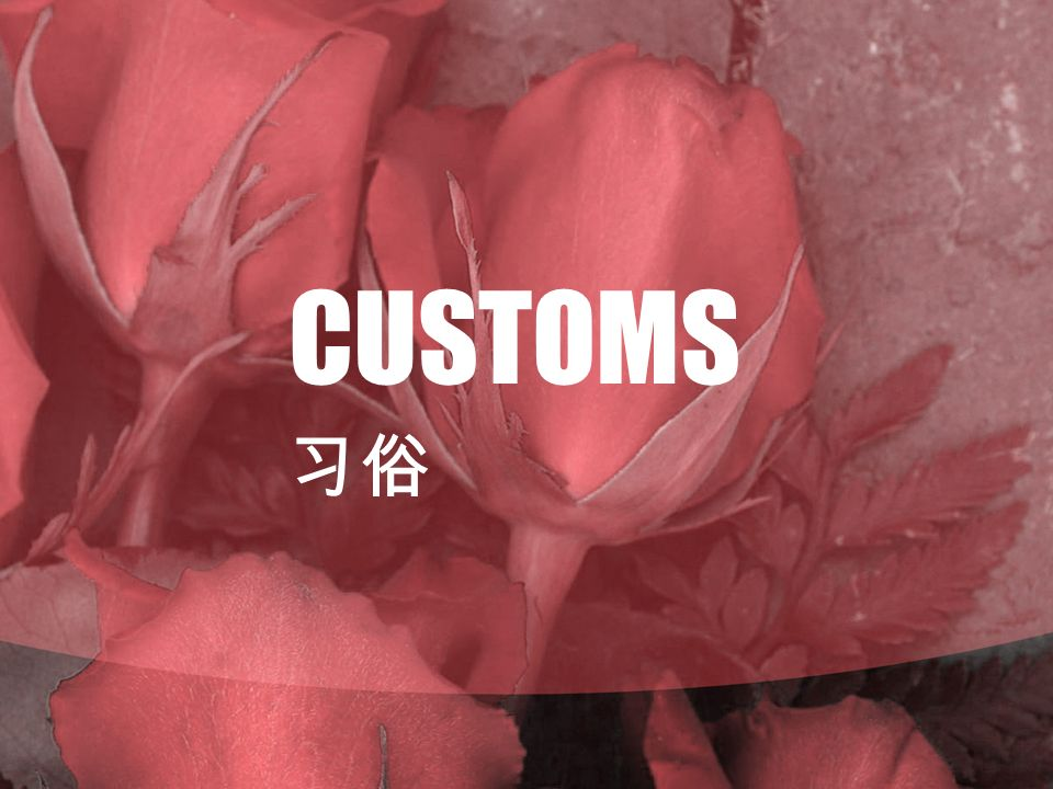 CUSTOMS 习俗