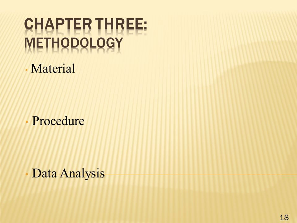 Material Procedure Data Analysis 18