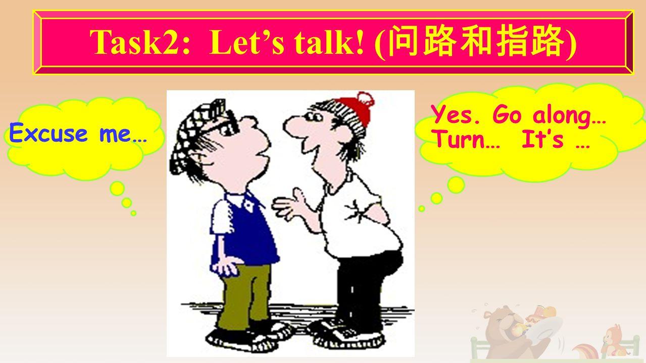 温馨提示温馨提示 1. 问路时应首先说一声 : Excuse me. 这样可以 引起对方的注意, 又不失礼貌。 2.