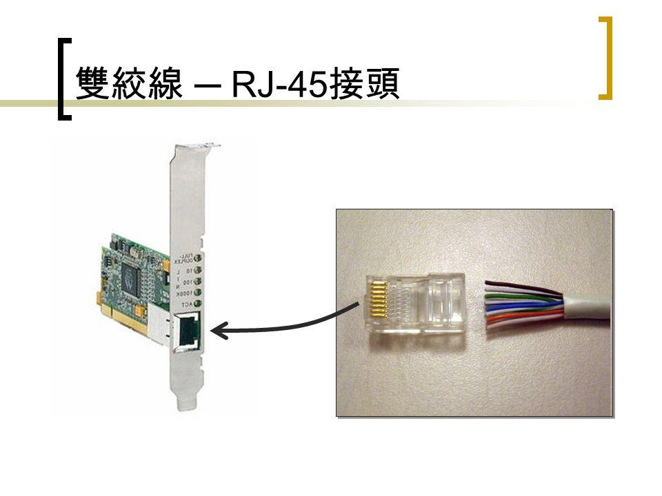 雙絞線 ─ RJ-45 接頭