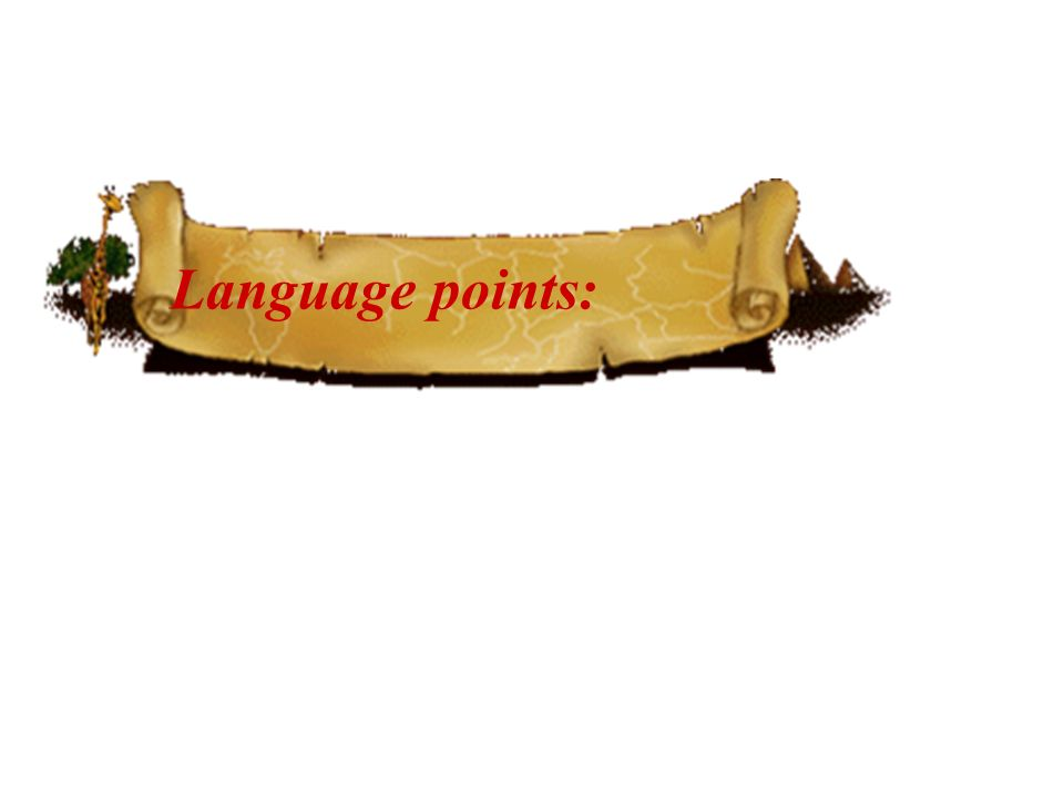 Language points: