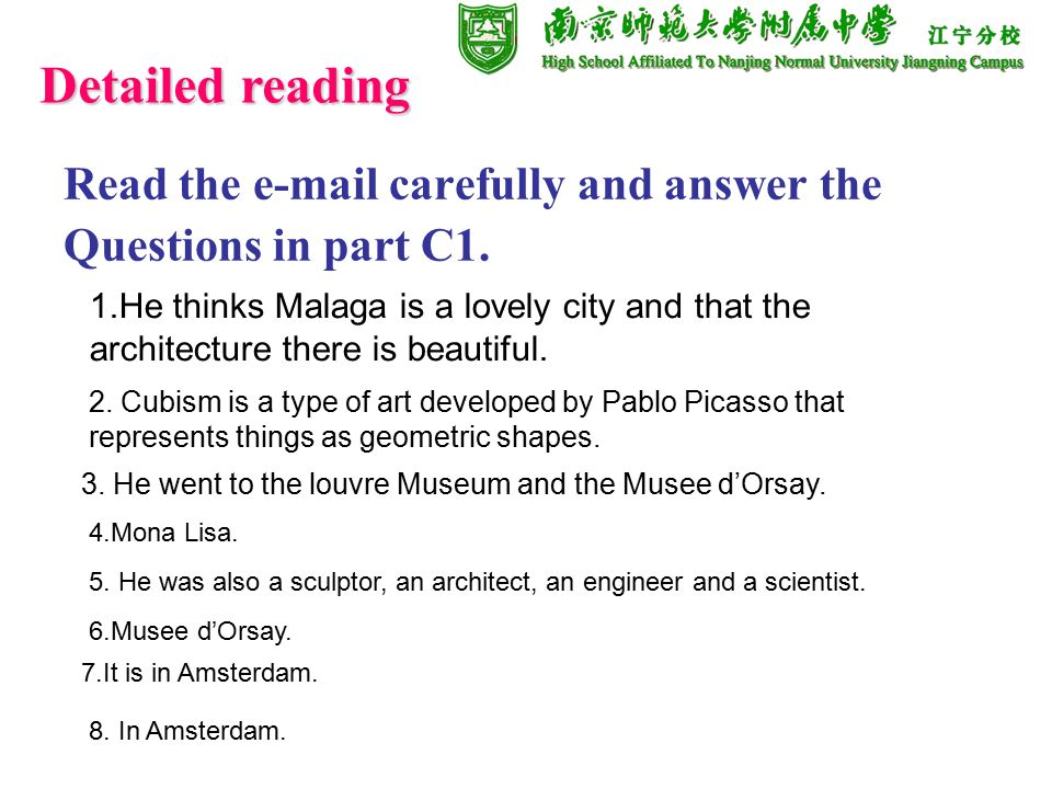 Read the  carefully and answer the Questions in part C1.