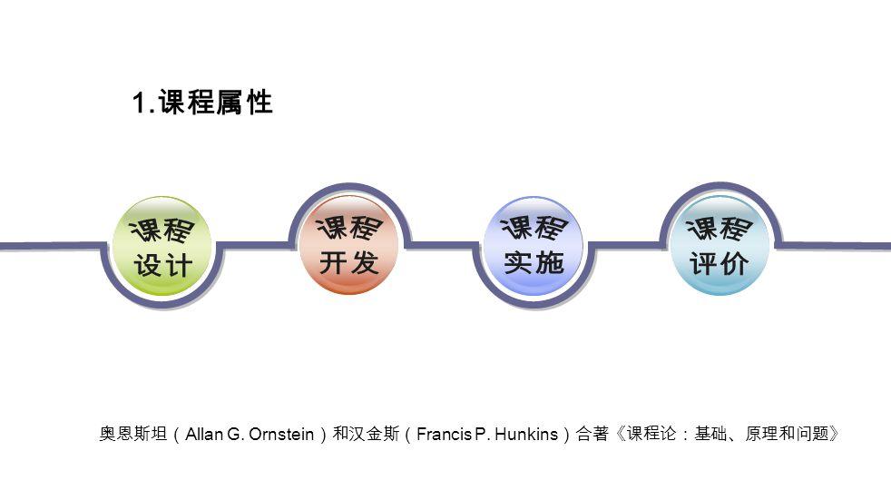 奥恩斯坦( Allan G. Ornstein )和汉金斯( Francis P. Hunkins )合著《课程论:基础、原理和问题》 1. 课程属性
