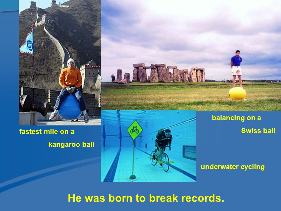 He was born to break records.
