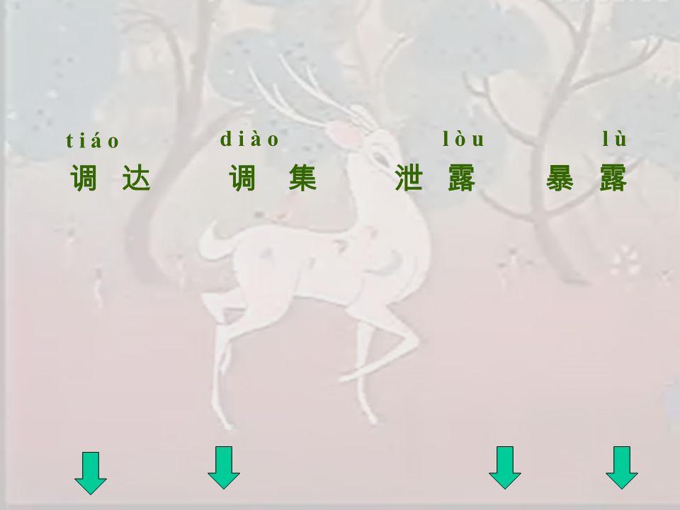 调 达 调 集 泄 露 暴 露 t i á o d i à ol ò u l ù