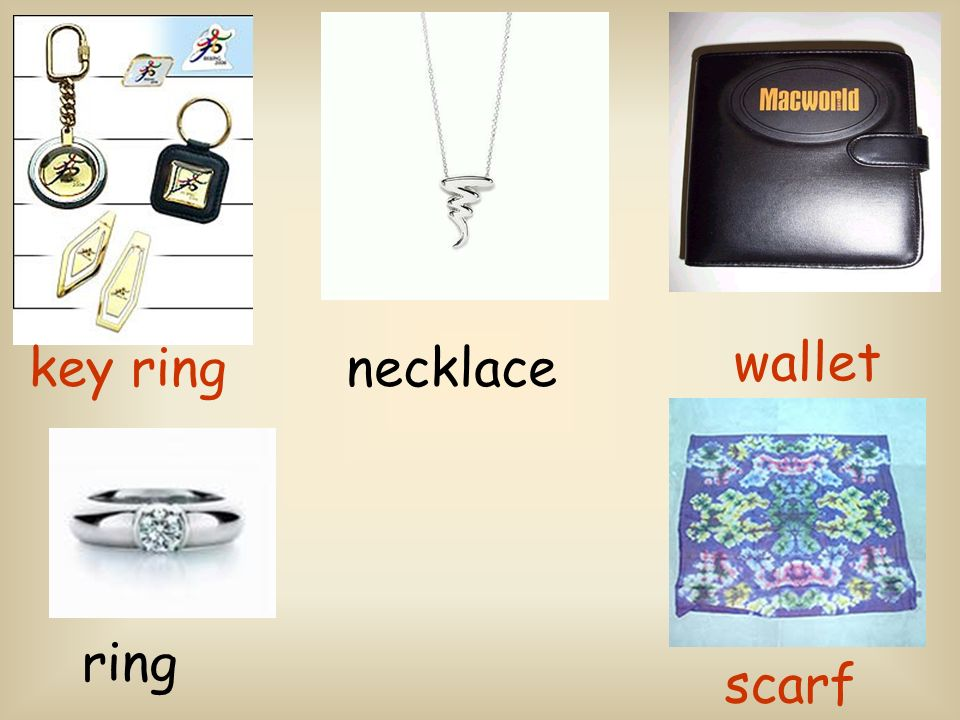 key ring scarf wallet ring necklace