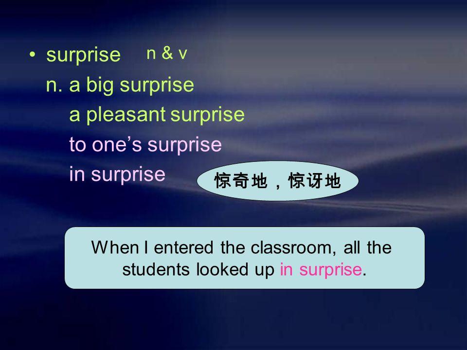 surprise n.