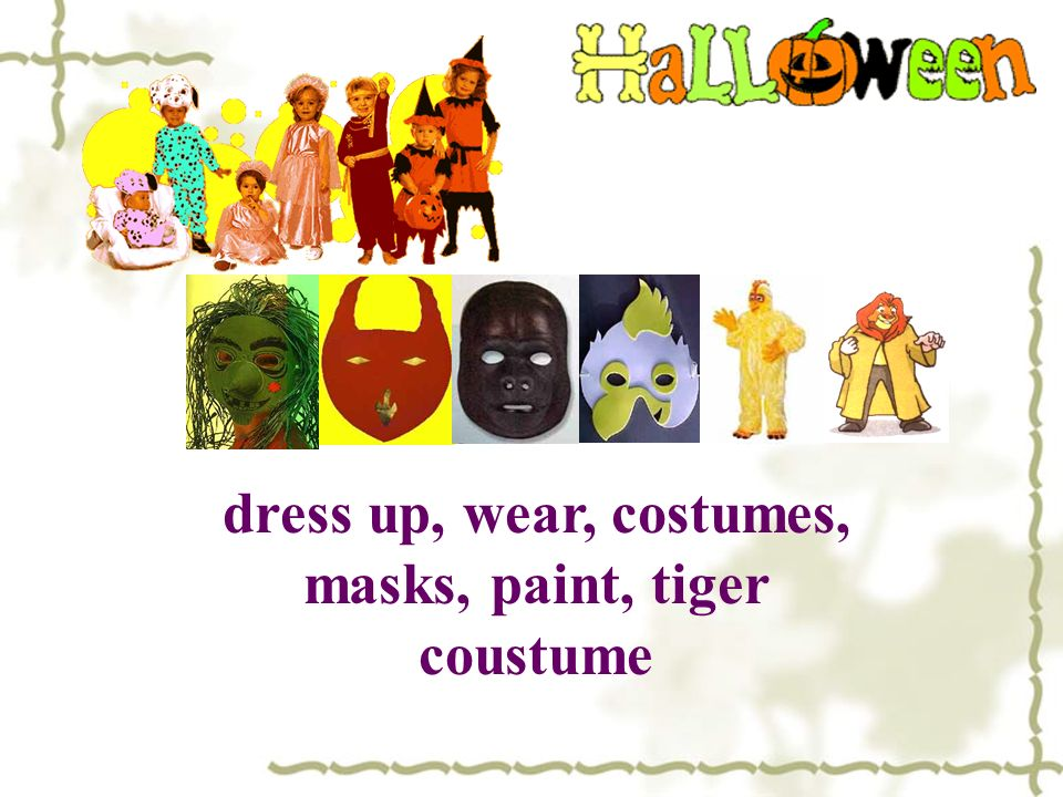 dress up, wear, costumes, masks, paint, tiger coustume