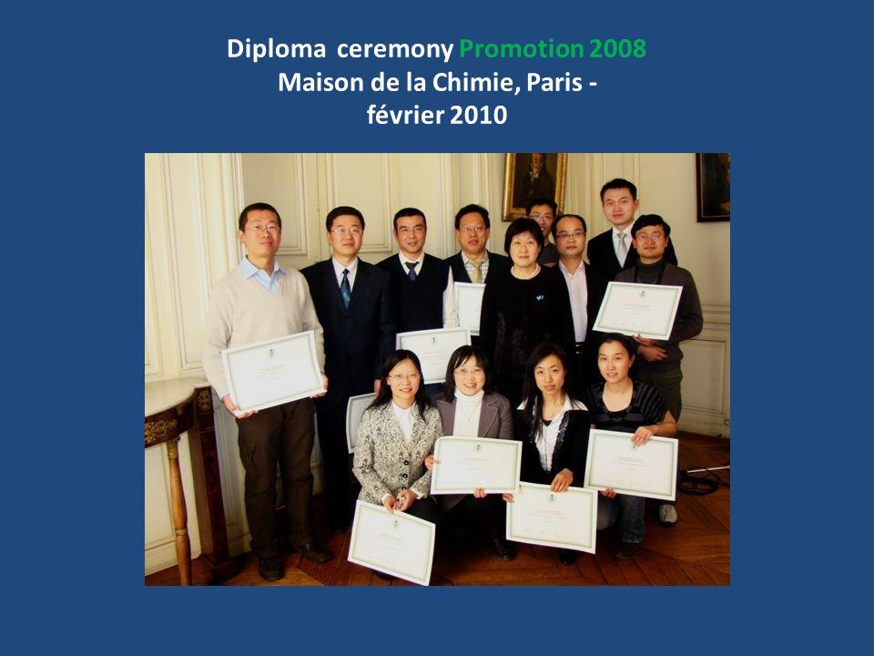 Diploma ceremony Promotion 2008 Maison de la Chimie, Paris - février 2010
