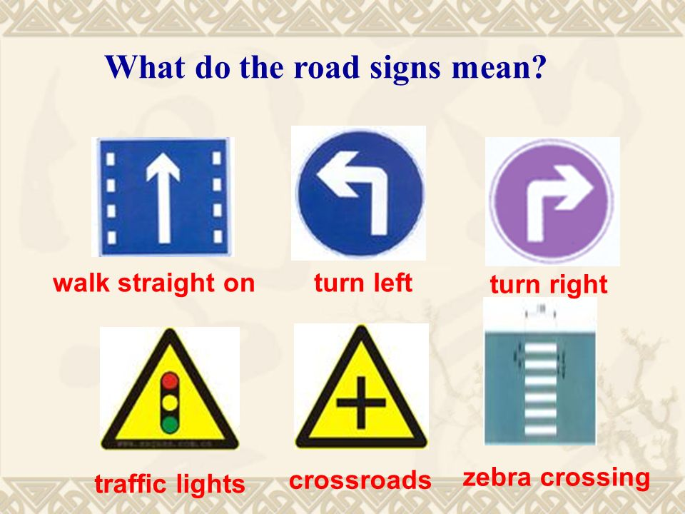 What do the road signs mean.