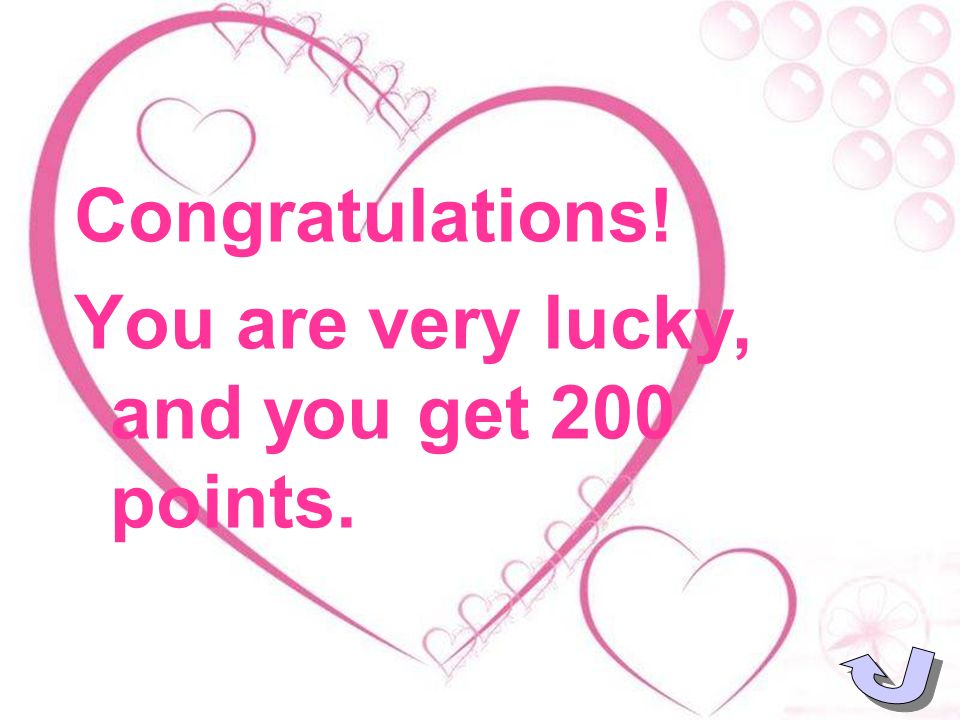 Bad luck! You lose 100 points.