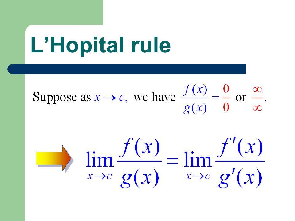 L'Hopital rule