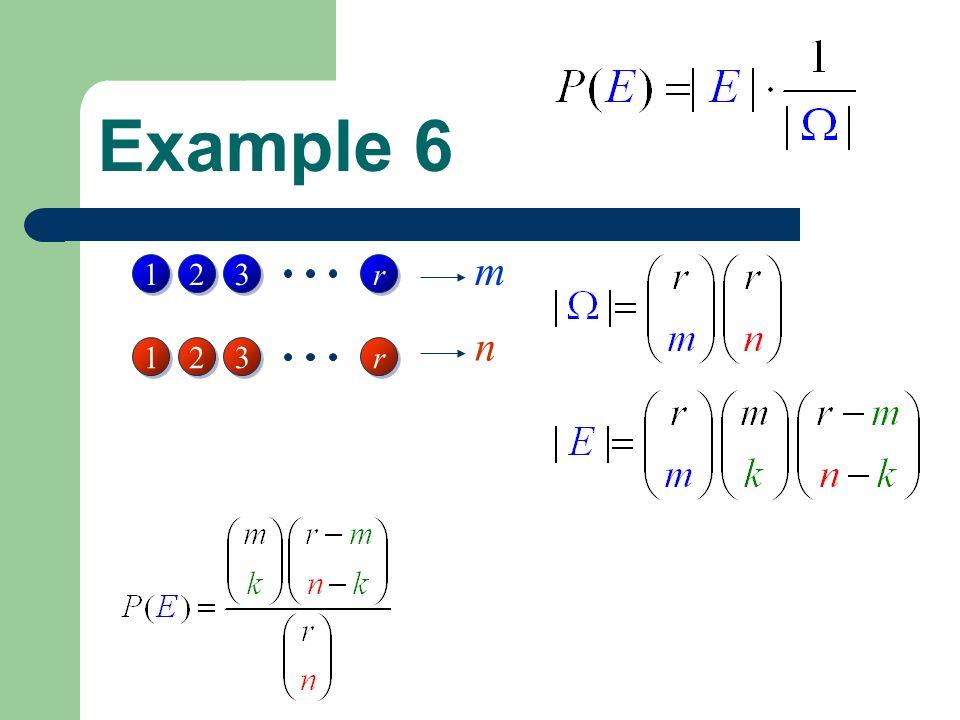 Example 6 1 1 2 2 3 3 r r 1 1 2 2 3 3 r r m n