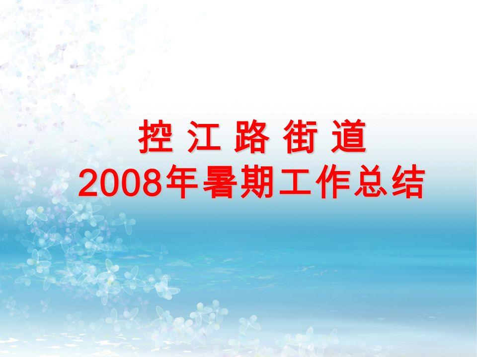 控 江 路 街 道 2008 年暑期工作总结