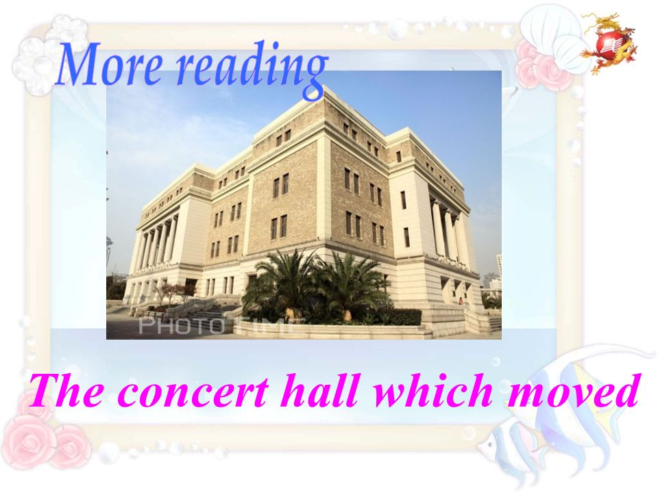 The concert hall which moved