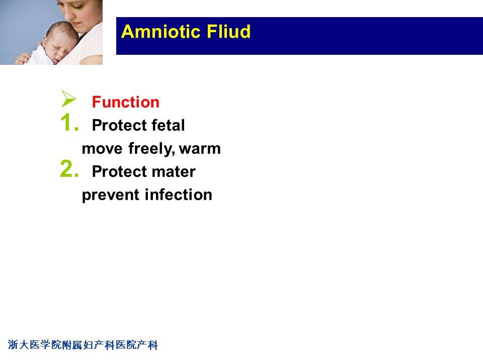 浙大医学院附属妇产科医院产科 Company LOG Amniotic Fliud  Function 1.