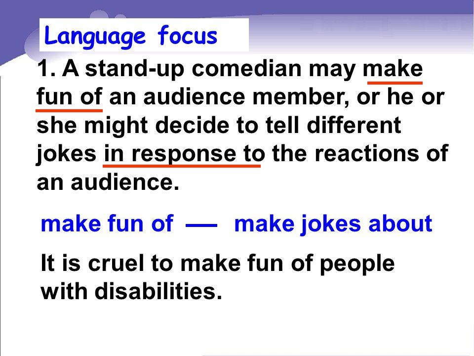 Language focus 1.