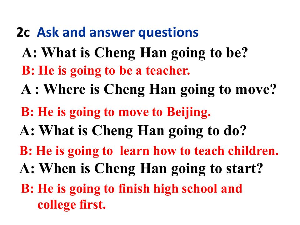 2b Listen again. What are Cheng Han's plans for the future.