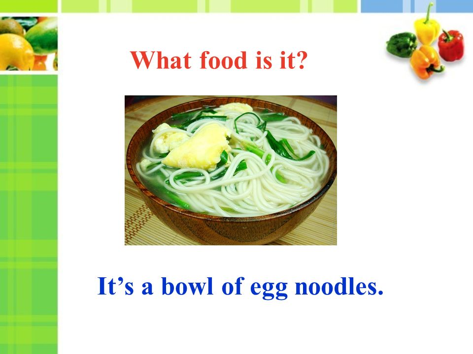 It's a bowl of egg noodles. What food is it