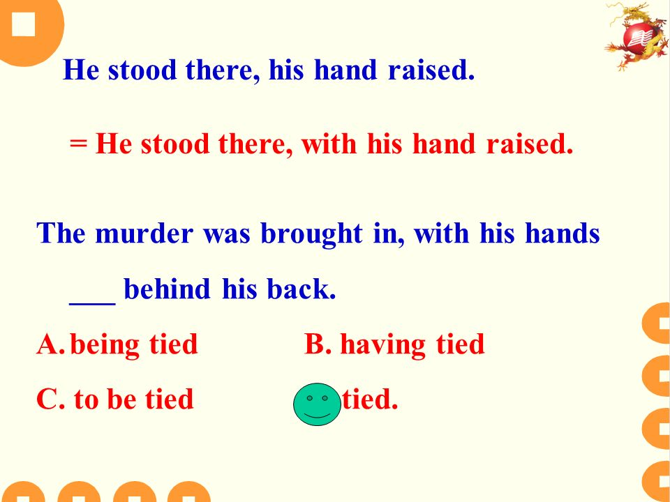 The murder was brought in, with his hands ___ behind his back.