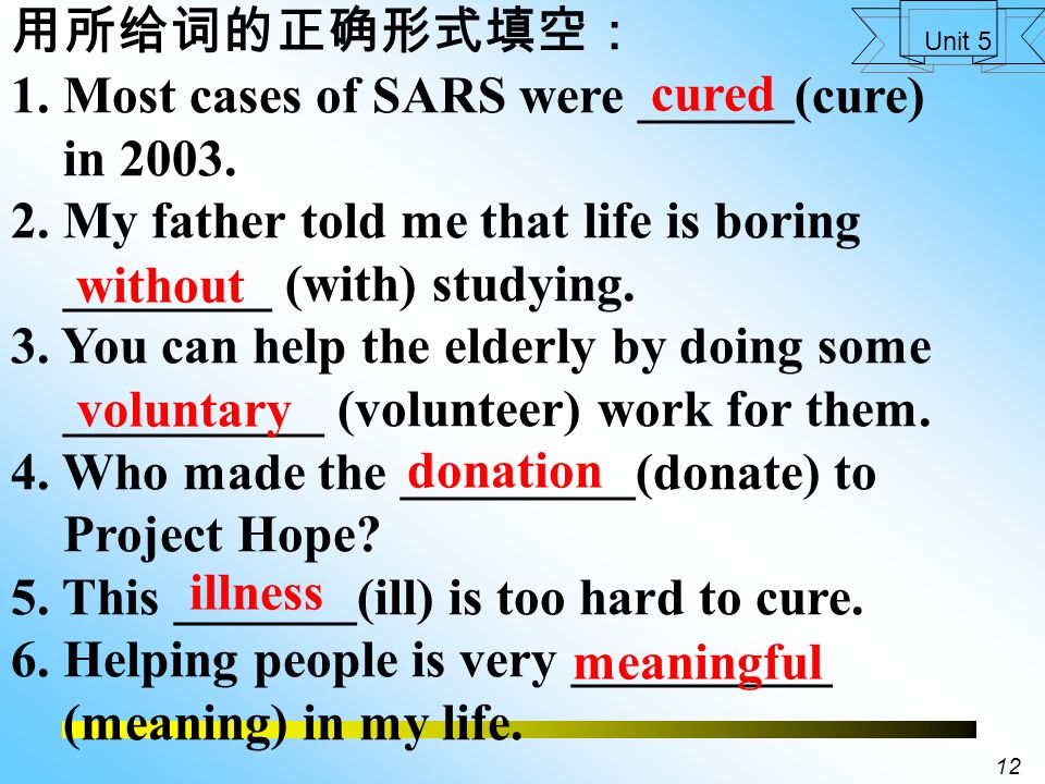 11 Unit 5 Useful expressions 35. 对于 …… 你是怎么想的? What do you think about ….