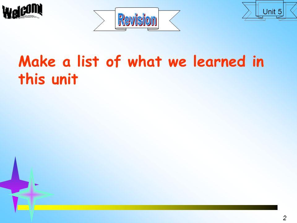 1 Unit 5