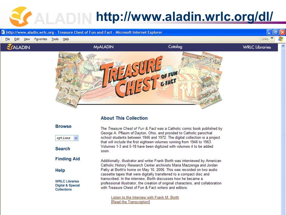 长春 2007 年 7 月 2-4 日 张贝楠 Allison B. Zhang zhang@wrlc.org ALADIN 15 http://www.aladin.wrlc.org/dl/