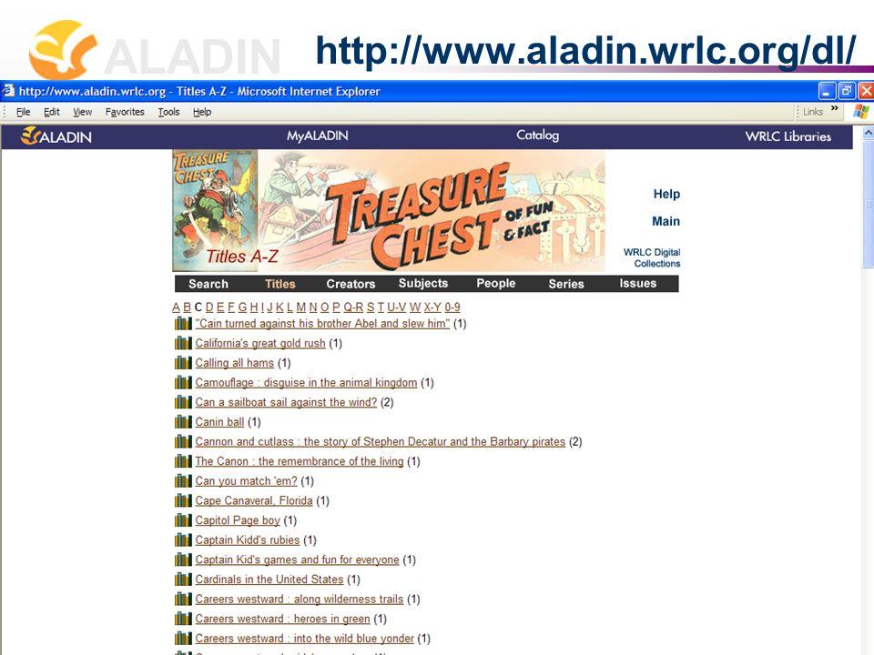 长春 2007 年 7 月 2-4 日 张贝楠 Allison B. Zhang zhang@wrlc.org ALADIN 16 http://www.aladin.wrlc.org/dl/