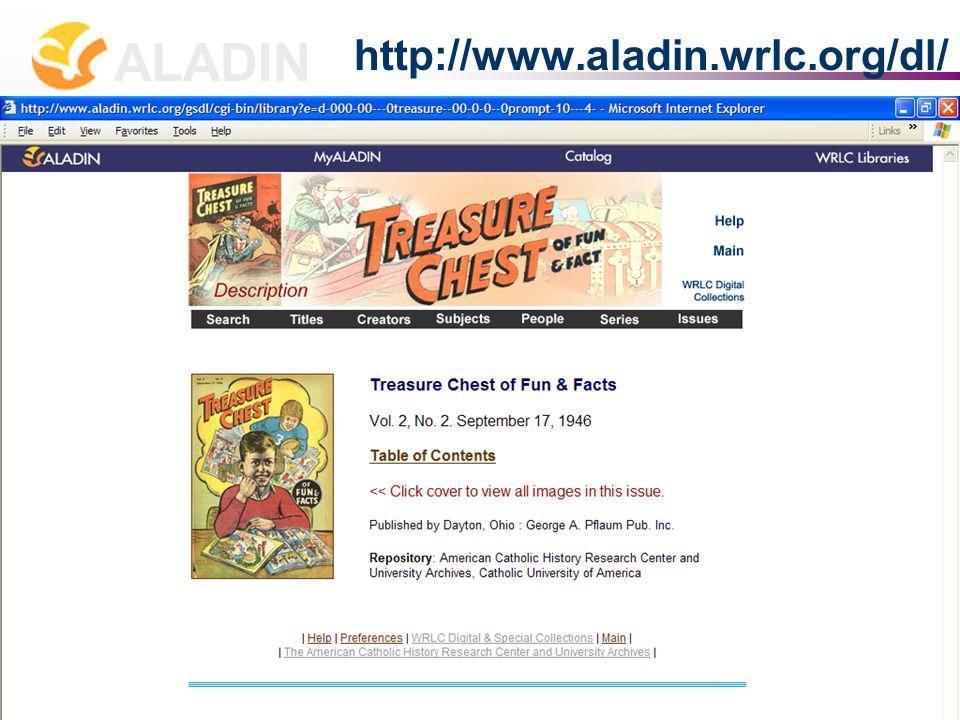 长春 2007 年 7 月 2-4 日 张贝楠 Allison B. Zhang zhang@wrlc.org ALADIN 17 http://www.aladin.wrlc.org/dl/