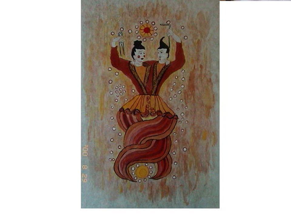 女娲 = 始祖母神 女娲,古之神圣女,化万物者也。 -- 《说 文》 有神十人,名曰女娲之肠,化为神,处 栗广之野,横道而处。 -- 《大荒西经》 女娲,古神女而帝者,人面蛇身,一日 中七十变。其腹化为此神。郭璞( 276- 324 ) ---- 《山海经注》 造人,补天,,,,