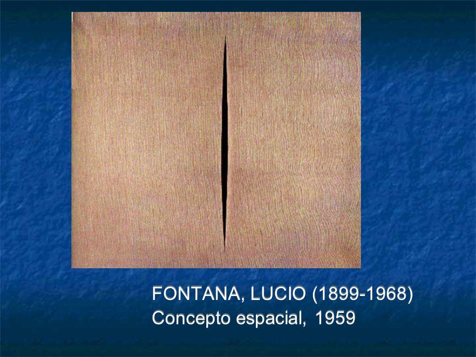 FONTANA, LUCIO (1899-1968) Concepto espacial, 1959 FONTANA, LUCIO (1899-1968) Concepto espacial, 1959