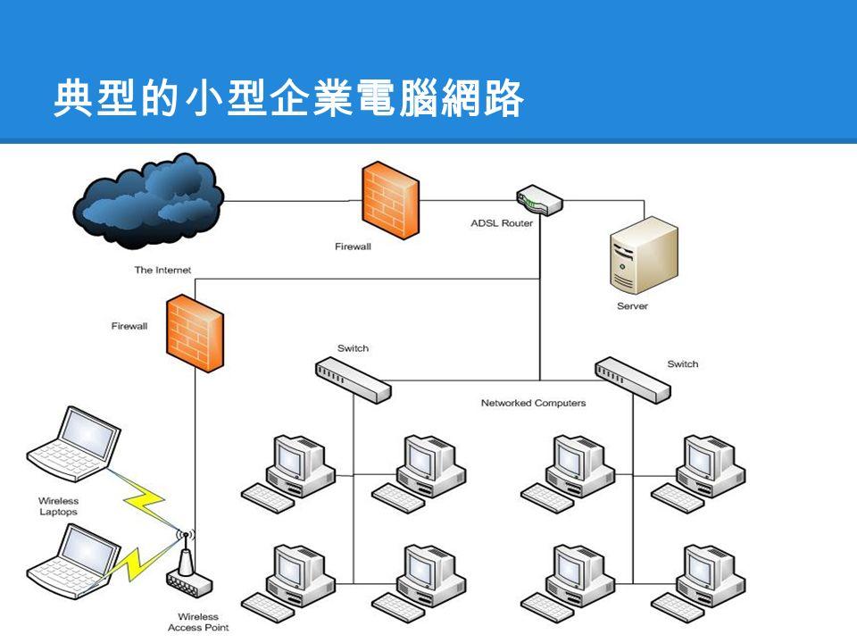 典型的小型企業電腦網路